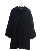 ROBE DE CHAMBRE COMME DES GARCONS(ローブドシャンブル コムデギャルソン)の古着「ボリュームスリーブステンカラーコート」 ネイビー