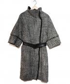 NINE(ナイン)の古着「前立フリンジコート」|ブラック