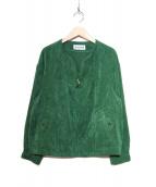 Jocomomola(ホコモモラ)の古着「コーデュロイジャケット」 グリーン
