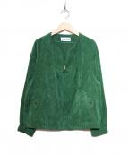 Jocomomola(ホコモモラ)の古着「コーデュロイジャケット」|グリーン