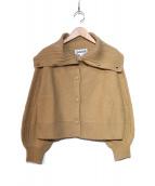 Jocomomola(ホコモモラ)の古着「カーディガン」|ベージュ