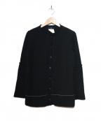 Y's YOHJI YAMAMOTO(ワイズ ヨウジヤマモト)の古着「[OLD]レイヤードデザインカーディガン」 ブラック