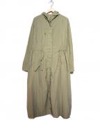 ROSE BUD(ローズバッド)の古着「フード付ロングカラーコート」 オリーブ