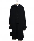 Y's YOHJI YAMAMOTO(ワイズ ヨウジヤマモト)の古着「[OLD]変形フーデッドコート」 ブラック