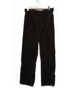 MHL(エムエイチエル)の古着「ベルテッドコーデュロイパンツ」|ブラウン