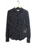 COMME des GARCONS COMME des GA(コムデギャルソン)の古着「丸襟ドット柄シアーシャツ」|ネイビー