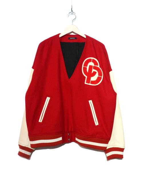 CHRISTIAN DADA(クリスチャンダダ)CHRISTIAN DADA (クリスチャンダダ) スタジアムプルオーバージャケット レッド サイズ:48の古着・服飾アイテム