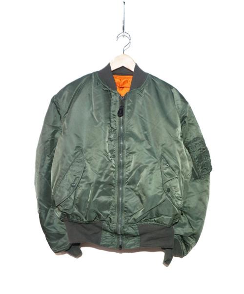 ALPHA(アルファ)ALPHA (アルファ) MA-1ジャケット オリーブ サイズ:Lの古着・服飾アイテム