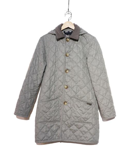 LAVENHAM(ラヴェンハム)LAVENHAM (ラヴェンハム) ウーlルキルティングコート グレー サイズ:XSの古着・服飾アイテム