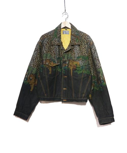 KENZO JEANS(ケンゾージーンズ)KENZO JEANS (ケンゾージーンズ) [OLD]アニマルプリントデニムジャケット インディゴ サイズ:Fの古着・服飾アイテム