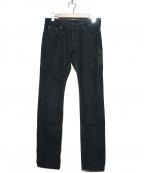 NEIL BARRETT(ニールバレット)の古着「コーティングデニムパンツ」 ブラック