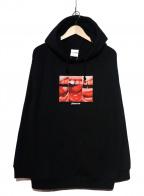 PLEASURES(プレジャーズ)の古着「プルオーバーパーカー」 ブラック