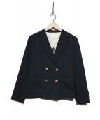 KUMIKYOKU(クミキョク)の古着「スラブライトジャケット」|ネイビー