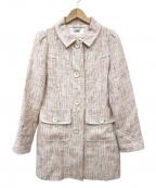 courreges(クレージュ)の古着「ツイードコート」|アイボリー