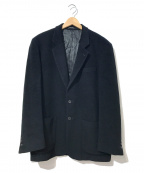 agnes b homme(アニエスベーオム)の古着「[OLD]オーバーサイズカシミヤ混2ボタンジャケット」 ブラック