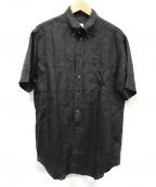 ARMANI COLLEZIONI(アルマーニ コレツィオーニ)の古着「リネンシャツ」 ブラック
