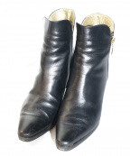 Yves Saint Laurent()の古着「[OLD]サイドジップショートブーツ」 ブラック