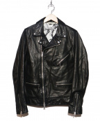 SHIPS JET BLUE(シップスジェットブルー)の古着「ダブルライダースジャケット」 ブラック