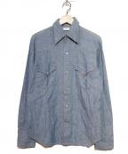 Sears(シアーズ)の古着「[古着]シャンブレーウエスタンシャツ」|インディゴ