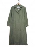 SLOBE IENA(スローブイエナ)の古着「カラーロングチェスターコート」|グリーン