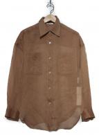 allureville(アルアバイル)の古着「シアーBIGシャツ」|ブラウン