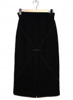 VERMEIL par iena(ヴェルメイユ パー イエナ)の古着「フロントジップタイトスカート」|ブラック