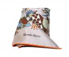 HERMES(エルメス)の古着「シルクスカーフ」|グレー×オレンジ