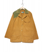 SAFTBAK(サフトバック)の古着「[古着]ダック地ハンティングジャケット」 ブラウン