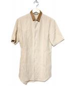 DIOR(ディオール)の古着「半袖リネンシャツ」|ベージュ