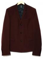 DIOR(ディオール)の古着「モヘヤ混3Bジャケット」|ワインレッド