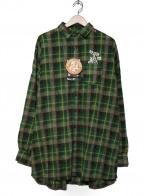 Hysteric Glamour()の古着「オーバーサイズチェックシャツ」|グリーン