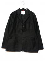 LE SANS PAREIL(ル サンパレイユ)の古着「コットンモールスキンラペルワークジャケット」|ブラック