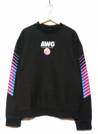ALEXANDER WANG(アレキサンダーワン)の古着「AWGロゴレインボースウェット」|ブラック