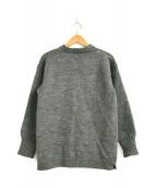 ()の古着「ガンジーネックセーター / ニット」|グレー