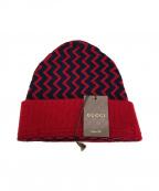 GUCCI(グッチ)の古着「ニット帽」|レッド
