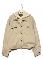 POLO COUNTRY(ポロカントリー)の古着「[古着]フーディードッキングトラッカージャケット」 アイボリー