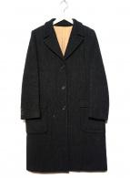 MARGARET HOWELL(マーガレットハウエル)の古着「ツイードチェスターコート」|グレー