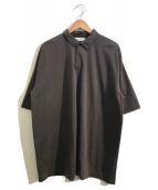 ()の古着「スビンコットンジャージーポロシャツ」|ブラウン