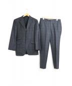 BURBERRY BLACK LABEL(バーバリーブラックレーベル)の古着「チェック柄セットアップ3Bスーツ」|グレー