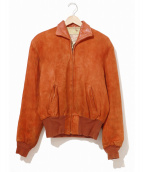 DeLong(デロング)の古着「[古着]ヴィンテージスエードレザージャケット」|ブラウン