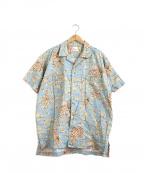 PAPAS(パパス)の古着「コットンアロハシャツ」 スカイブルー