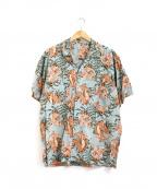 PAPAS(パパス)の古着「レーヨンアロハシャツ」 グリーン