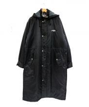 FILA(フィラ)の古着「ベンチコート」 ブラック