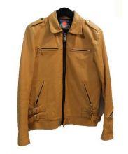 blackmeans(ブラックミーンズ)の古着「レザージャケット」|イエロー
