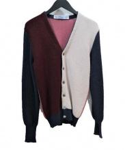 FANNI LEMMERMAYER(ファンニ・レマメイヤー)の古着「アルパカニットカーディガン」|ネイビー×ピンク