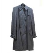 hannes roether(ハネス ルーザー)の古着「リネントレンチコート」|ブラック
