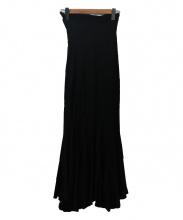 JUNYA WATANABE COMME des GARCONS(ジュンヤワタナベ コムデギャルソン)の古着「ニットロングフレアスカート」|ブラック