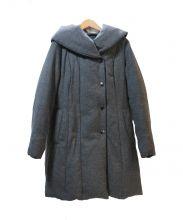 ANAYI(アナイ)の古着「カシミヤ混ボリュームカラーダウンコート」|グレー