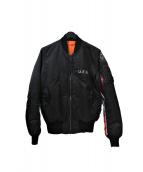 fragment×uniform experiment ×ALPHA(フラグメントデザイン×ユニフォームエクスペリメント×アルファ)の古着「MA-1ジャケット」|ブラック
