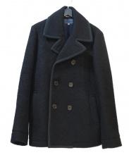 BLUE BLUE(ブルーブルー)の古着「ウールPコート」|ブラック